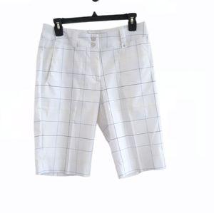 Nike Dri-Fit White Striped Golf Shorts
